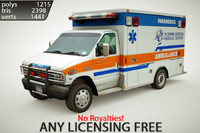 3d model generic ambulance games