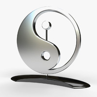 3d model sculpture yin yang