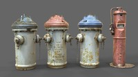 3d firefighting hydrant model