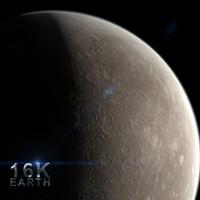 mercury planet sun 3d c4d