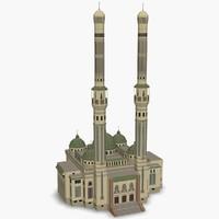 3d model al nour mosque cairo