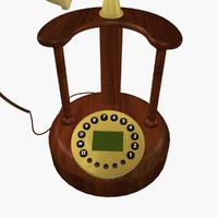 antique telephone 3d max