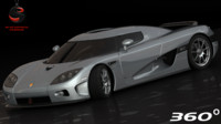 koenigsegg ccx 2006 interior 3d model
