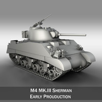 3ds max m4 sherman iii -
