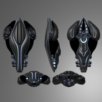 3d sci-fi space model