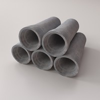 concrete drainage tube 3ds