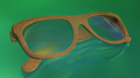 3d wood sunglasses model