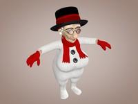 3d grandma snowman