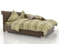 3d velvet bed