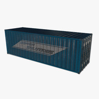 ready shipping container obj