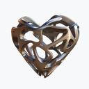 heart necklace 3D models