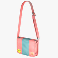 cartoon student bag 5 3d model