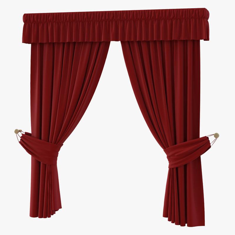 3d model of Curtain Red 00.jpg