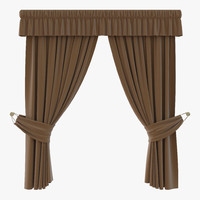 curtain 4 brown 3d max