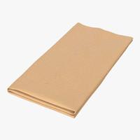 napkin 2 3d model