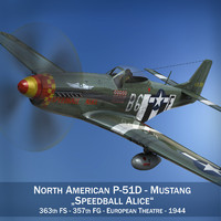 North American P-51D Mustang - Speedball Alice