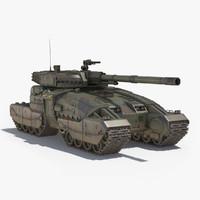 3d sci-fi tank 2