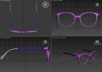 karen sunglass 3d model