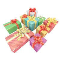 gifts interior set 3d max