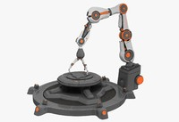 3d industrial sci fi robot arm