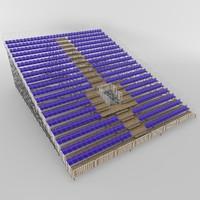 3d model tribune