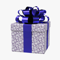 3d model giftbox purple