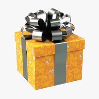 3ds max giftbox orange