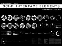 Sci-Fi Interface elements