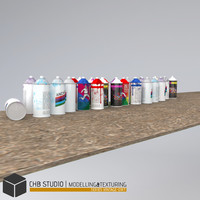 3ds max architectural spray cans dirty