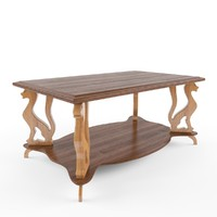 carved wooden table 3d model