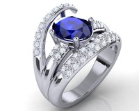 rhino sapphire ring