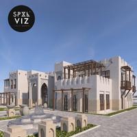 3d villa architecture