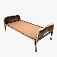 rusty bed 3d max