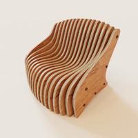 maya parametric armchair
