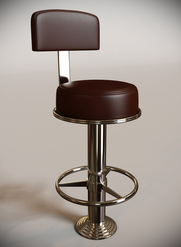 3d Max Mariner Standing Bar Stool
