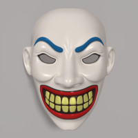 3d model clown mask