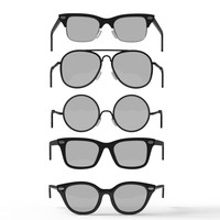 3d retro glasses set