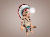 obj indian smoking