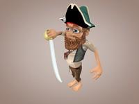 3d pirate saber