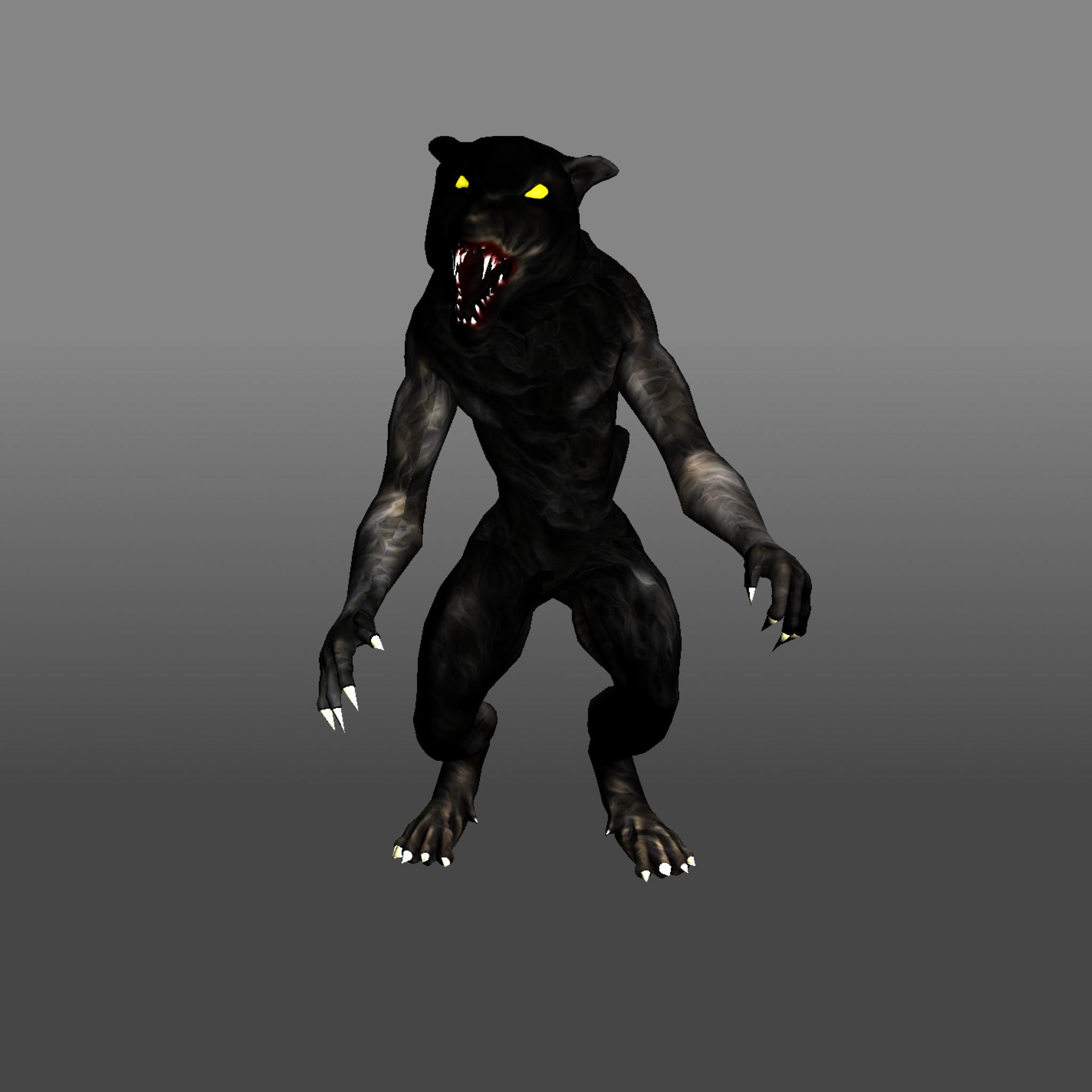 humanoid werewolf 3d model