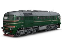 3d model train locomotive