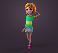 ma cartoon claire rigged girl
