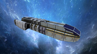 3d model sci-fi space freighter