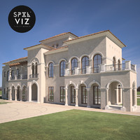 3d model of californian villa