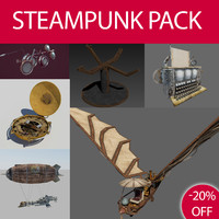 3d steampunk pack