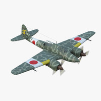 3ds max ww2 kawasaki ki45 fighter airplane