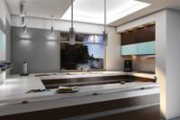 3d kitchen elegance model