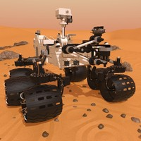 rover mars spirit 3d model