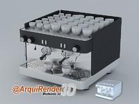 3d machine coffee model