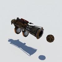 steampunk hand gun max